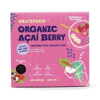 Gratefood Company Organic Acai Pulp Sweetened w Guarana Syrup