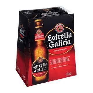 Estrella Galicia Especial Beer 330ml 6's