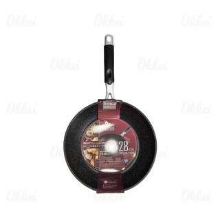 Saracook Marble Deep Wok Pan - 28 cm