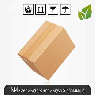 MillionParcel Carton Box N4: 350MM(L) X 190MM(W) X 230MM(H)