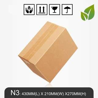 MillionParcel Carton Box N3: 430MM(L) X 210MM(W) X270MM(H)