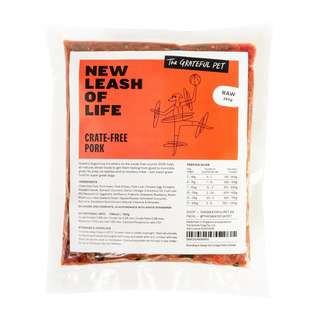 The Grateful Pet Raw Crate free Pork Pouch