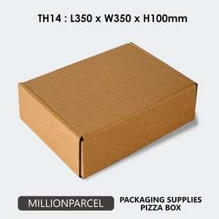 MillionParcel Pizza Carton Box TH14: L350 x W350 x H100mm