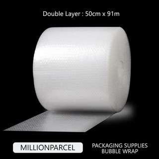 MillionParcel (Big Roll) Bubble Wrap Double Layer 50cm x 91m