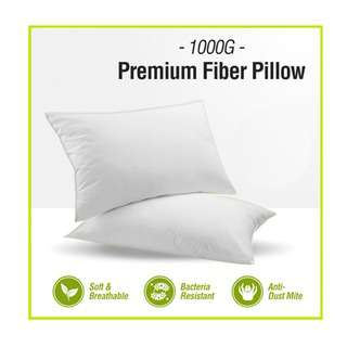 RTR 1000gm Premium Fiber Pillow - Soft and Breathable