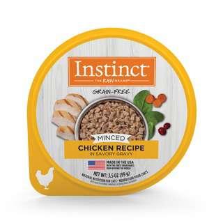 Instinct Minced Recipe  Chicken Wet Cat Food Cup