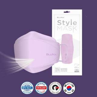 Bluna BFE 99.9 3D Lilac Colour Style Adult Face Masks