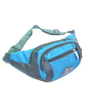 Travelsupplies Waist Pouch Bag with 4 Compartments - Blue