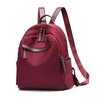 Travelsupplies Water Resistant Nylon Ladies Backpack - Red