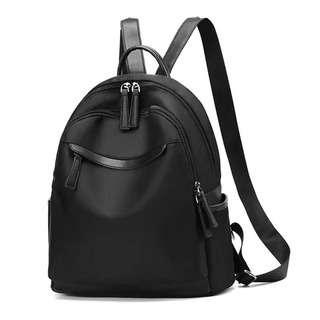 Travelsupplies Water Resistant Nylon Ladies Backpack - Black