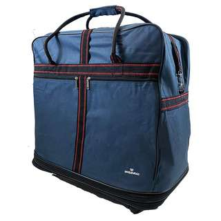 World Polo Large Expandable Duffel Bag with Wheels - Blue