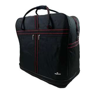 World Polo Large Expandable Duffel Bag with Wheels - Black