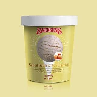 Swensen's Salted Butterscotch Crumble Ice Cream Pint Tub