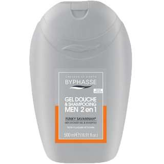 Byphasse 2 In 1 Men Shower Gel and Shampoo Funky Savannah