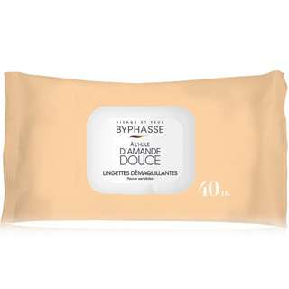 Byphasse Make Up Remover Wipes For Sensitive Skin 40's