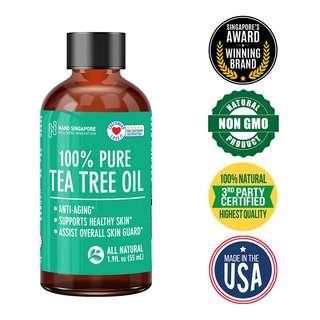 Nano Singapore 100 % Pure Tea Tree Oil