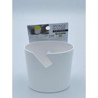 Kokubo Glean Plastic Sponge Holder (White)