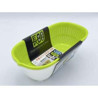 Kokubo Oval Plastic Colander & Bowl 1.5L
