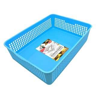 Sitbo Large Rectangular Multipurpose Storage Basket (Blue)