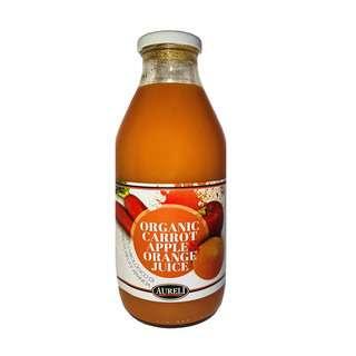 Aureli Organic 100% Carrot Apple Orange Juice-No Sugar Added