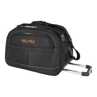 World Polo 24 Inch Duffel Bag Trolley with Wheels - Black