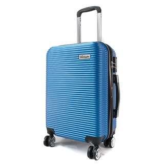 Travelsupplies 24 Inch Anti Theft Luggage with TSA Lock-Blue