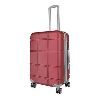 World Polo 28 Inch Expandable Luggage with TSA Lock - Red