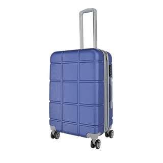 World Polo 28 Inch Expandable Luggage with TSA Lock - Blue