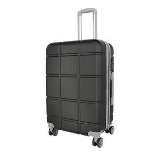 World Polo 24 Inch Expandable Luggage with TSA Lock - Black