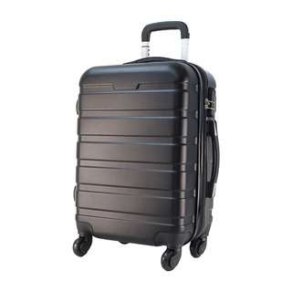 World Polo 24 Inch ABS Expandable Luggage - Black