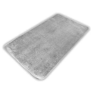 Amark Large Full Cotton Non-Slip Bathroom Mat 50x80cm (Grey)