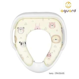 AGUARD Toilet Seat Cover w/Handle - Ivory
