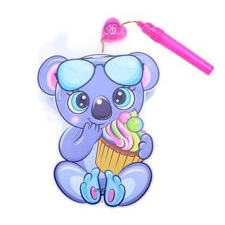 Partyforte Battery Operated Music Light PVC Lantern - Koala