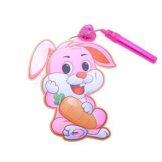 Partyforte Battery Operated Music Light PVC Lantern - Rabbit
