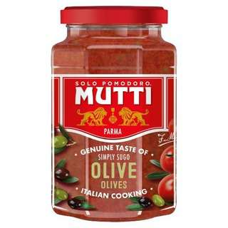 Mutti Simply Sugo with Olives Pasta Sauce