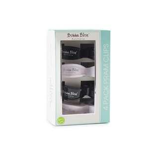 Bubba Blue Pram Clips - Unisex Pack Black/White