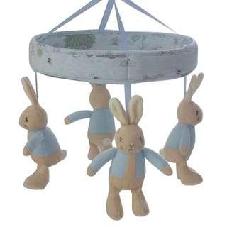 Bubba Blue Hop Little Rabbit Musical Mobile - Blue