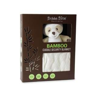 Bubba Blue Bamboo White Security Blanket