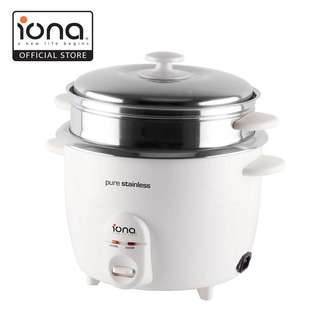 IONA 1.8L Stainless Steel Rice Cooker with Steamer GLRC181