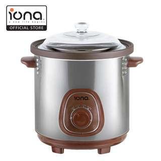 IONA 8.5L Purple Clay Auto Slow Cooker w Double Boiler GLSC85