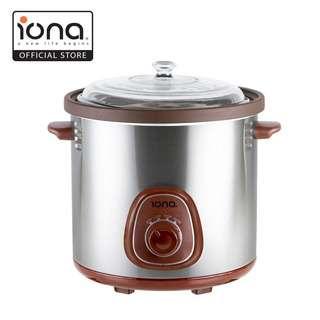 IONA 6L Purple Clay Auto Slow Cooker w Double Boiler GLSC600