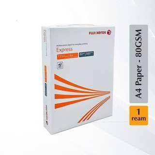 Fuji Xerox 80gsm Express A4 paper 500 Sheets/ream (1 ream)