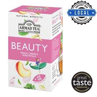 Ahmad Tea Natural Benefits Beauty Infusion 20's Foil Teabags