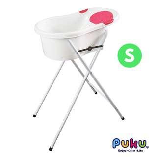 Puku Puku Baby Bath Tub with Stand S - Pink