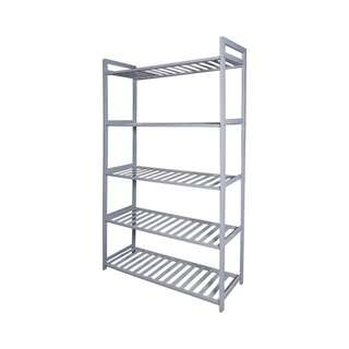 ecoHOUZE 5 Tier Bamboo Storage Shelf (Grey) - 68cm