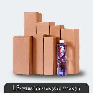 MillionParcel Rectangle Box L3: L75 x W75 x H330mm
