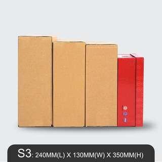MillionParcel Carton Box S3: L240 x W130 x H350mm