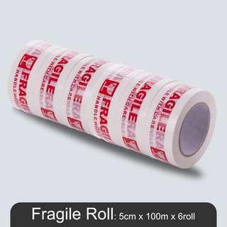 MillionParcel Fragile Adhesive Tape 5cm x 100m