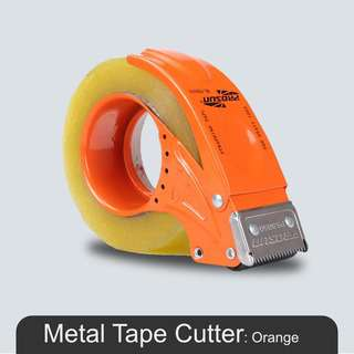 MillionParcel Metal Tape Dispenser 8050 - Orange