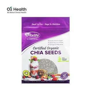 Morlife Black Chia Seeds (Certified Organic)